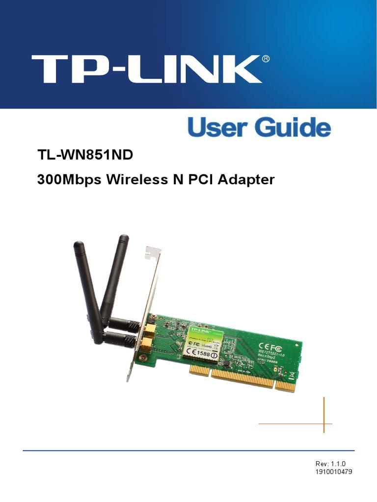 TL-WN851ND User Guide pdf | Wireless Lan | Ieee 802 11