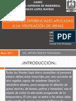 Ecuaciones diferenciales aplicadas a la ventilación de mina