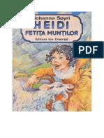 Johanna Spyr - Heidi, Fetita Muntilor