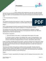 GR2.5.2 Grievance Policy & Procedures