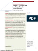 Association of Compensation From the Surgical and Medical Device Industry to Physicians and Self-declared Conflict of Interest