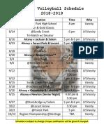 AHS VB 18-19 Schedule
