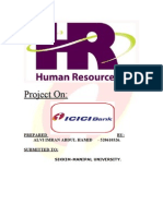 Human Resource ManagementICICI HR