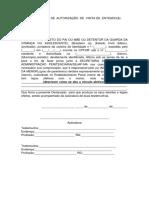 Declaração de Autorização de Visita de Enteado