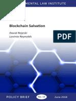 Blockchain Salvation