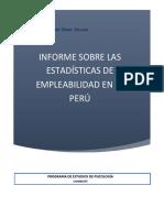 Informe Sobre Estadisticas de Empleab psicologia