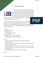 FES Control Pane Literature