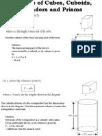 Volumes of Cubes, Cuboids, Cylinders(Aramae)