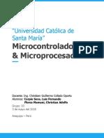 Informe 4 Microcontroladores y Microprocesadores