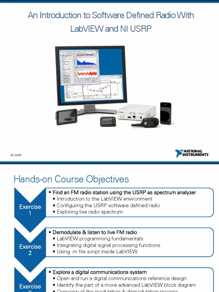 Niusrp Hands On Presentation Lvcomms Software Defined Radio Modulation