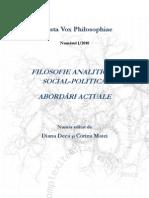 Vox Philosophiae, Filosofie analitică și social-politică. Abordări actuale