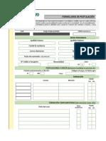 F-307 Formulario de Postulación