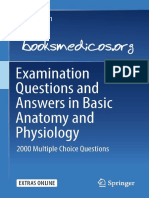 Examination Questions and Answers in Basic Anatomy and Physiology. 2000 Multiple Choice Questions - Martin Caon