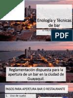 Reglamentación dispuesta para la apertura de un bar en la ciudad de Guayaquil.pptx