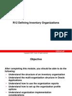 Inventory Org Setups