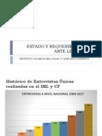 Instituto de Medicina Legal - Estado y Requerimientos ante Ley30364