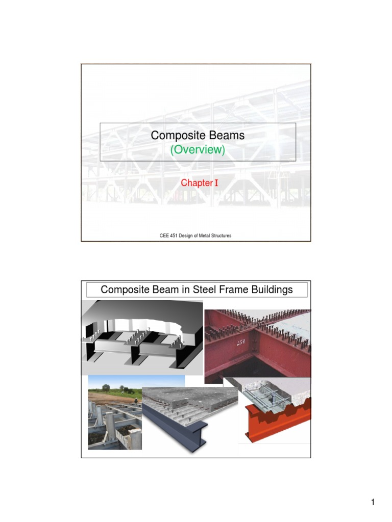 5-Composite Beams pdf | Beam (Structure) | Strength Of Materials