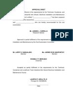 2. FORMAT II Approval Sheet