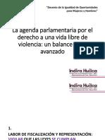 PPT Agenda Parlamentaria contra la violencia. Despacho Indira Huilca.