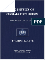 Physics of Crystal