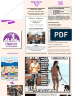 Denver Go Topless Day 2018 Parade Brochure