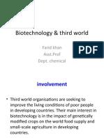 Biotechnology and Third World