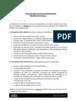 1.- Documentos Para Contratación - Planilla