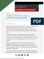 La CGT Se Reúne Con El FMI Le Advertirán Al Jefe Página12