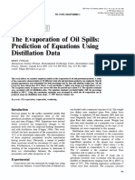 Evaporation Oil Spill Predictions