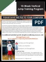 10 Week Vertical Jump Training Program