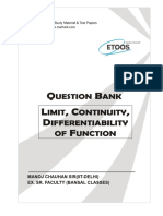 Question Bank_Limits, Continuity _ Derivability