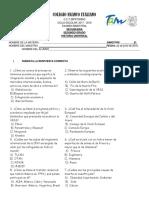 Examen Historia Universal 5to Bimestre