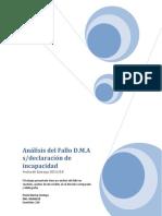 Análisis Del Fallo D.M.A s/ declaracion de incapacidad