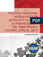 Politica Nacional ALACFT Conpes 3793 de 2013