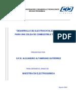 Desarrollo de Electrocatalizadores Para Una Celda de Combustible Tipo PEM.