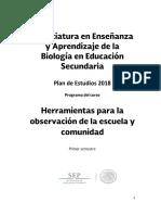 Herramientas Para La Observación y Análisis de La Escuela y Comunidad