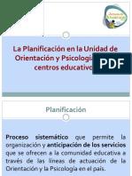 Planificación en la Unidad de Orientación y Psicología