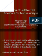 Selection of Suitable Test Procedure