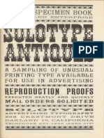 Unique specimen book, unrivaled enterprise