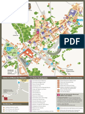 Santillana Del Mar Mapa.Mapa Callejero De Santillana Del Mar