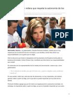 20-08-2018-Claudia Pavlovich reitera que respeta la autonomía de los municipios- Tribuna