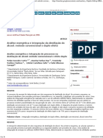 Article. Análise Energética e Integração Da Destilação de Álcool_ Método Convencional e Duplo Efeito