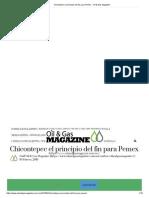 Chicontepec El Principio Del Fin Para Pemex - Oil & Gas Magazine