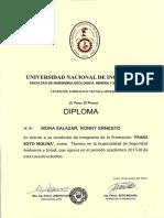 Diploma Ronny Mora