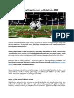 Trick Menang Ringan Bermain Judi Bola Online 2018