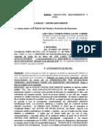 ABSOLUCION Y REQUERIMIENTO DE INDEMNIZACION DEL AFOCAT CENTRO NOR ORIENTE  LESLY NELLY POMAYA PAREJA 2018.doc