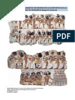 Arte Egipcio - Banquete en Honor de Los Difuntos de La Tumba de Nebamun (Imperio Nuevo)