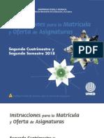Instrucciones Para La Matricula 2018-II Electronico