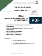 Tema 4 Organización Territorial Del Estado 2016 T-libre