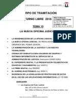 TEMA 10 LA OFICINA JUDICIAL 2016 6-Oct T-Libre.pdf